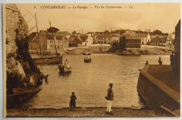 C. P. A. : 29 CONCARNEAU : Le Passage, Vue De Concarneau, Animé - Concarneau