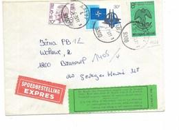 """LE 0474. Lettre EXPRES De AALST 17.4.79 V. Bruxelle - Etiquette Verte """"De Regie Der Posterijen Zorgde Voor De Bestelling - Belgium"""