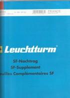 France Feuilles Leuchtturm Pré-imprimé Avec Pochettes Jeu France 2012 Mini Feuille 344 494 - Albums & Reliures