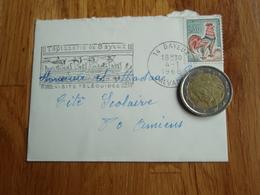 Petite Enveloppe Timbrée De BAYEUX  + Flamme 1968 N° 2 - Autres