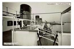 CPA-Carte Postale FRANCE-Paquebot L'Atlantique- Le Pont Des Sports  VM13086 - Paquebots