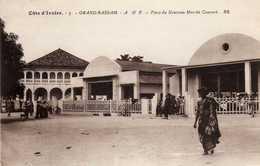 CÔTE-D'IVOIRE ( A.O.F )  GRAND-BASSAM   Place Du Nouveau Marché Couvert - Côte-d'Ivoire