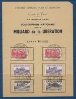 """Tunisie YT 240 241 249 """"  Comité De Tunis14 Juillet 1944 Souscription Nationale Pour MILLIARD  DE  LA  LIBÉRATION """" - Ungebraucht"""