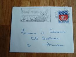 Petite Enveloppe Timbrée Aux Armoiries De PARIS   + Flamme De SAINT-VALERY-SUR-SOMME. 1967 - Autres