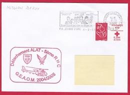 4152 Marine, PH Jeanne D'Arc, Campagne 2004-2005, DETALAT, Opération BERYX, Oblit. Mécanique JDA, 06-02-2005, Marianne D - Marcophilie (Lettres)