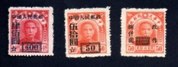 Francobolli Cina Anni '50 - 3 Valori - 1949 - ... Volksrepubliek