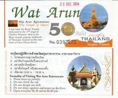 Ticket Entrée Wat Arun Buddhist Temple (wat) In Bangkok. Thailand - Tickets D'entrée