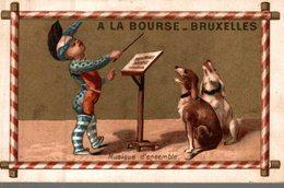 CHROMO  GRANDS MAGASINS DE LA BOURSE  BRUXELLES  MUSIQUE D'ENSEMBLE - Kaufmanns- Und Zigarettenbilder
