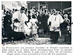 1929 : Photo, Belgique, Wasmes, La Pucelette, Petite Vierge, Gilles De Chin, Procession Et Fête Populaire, Colfontaire - Collections