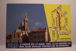 MARSEILLE    - RTM  - Espace-info RTM  - PUBLICITE   - ( Pas De Reflet Sur L'original  ) - Notre-Dame De La Garde, Aufzug Und Marienfigur