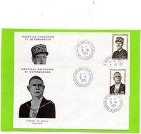 2 Plis En 1° Jour Du 9/II/1971 ( Général  DE GAULLE ) - Nouvelle-Calédonie