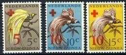 Nederlands Nieuw Guinea 1955, Rode Kruis, Red Cross - Birds, Oiseaux, Paradijsvogels NVPH 38-40  MH* - Nuova Guinea Olandese