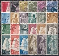 ESPAÑA 1956-1957 Nº 1185/1208 AÑO COMPLETO USADO 24 SELLOS - Spagna