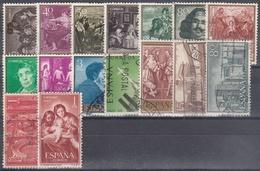 ESPAÑA 1959 Nº 1238/1253 AÑO COMPLETO USADO 16 SELLOS - Espagne