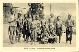 Cp Annam Vietnam, Groupe De Mois En Voyage, Gruppenbild - Vietnam