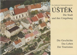 Prospekt Heft Ustek Auscha Stadt Umgebung Geschichte Gegenwart Leben Tourismus A Leitmeritz Litomerice Aussig Usti 2001 - Tschechien