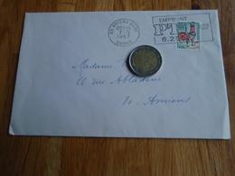 Enveloppe Timbrée Au Coq De Décaris   + Flamme Emprunt PTT 1967 - Autres