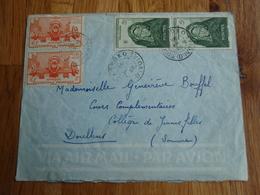 Enveloppe Timbrée Cote D'ivoire Korhogo 4 Timbres  1949 - Autres