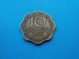 Ceylan - Sri Lanka   10 Cents  1971 - Sri Lanka