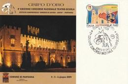"""Eventi - Manifestazioni - Partanna (TP) 8^ Ediz. Conc. Naz. Teatro-Scuola """"Grifo D'Oro"""" - - Manifestazioni"""