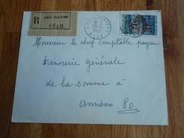 Enveloppe Timbrée De CREIL PLATEAU 1967. Trésorerie Somme à AMIENS - Autres