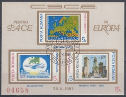 RUMANIA 1980 Nº HB-146b USADO - Usati
