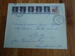 Enveloppe Timbrée 6 Timbres Dont 5 Armoiries De NIORT Et Coq De Décaris 1965 - Autres