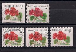 Belgique 1999/2000  COB N°2850 + 2850a 2x + 2854 + 2977 ° - Used Stamps