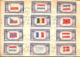 Etats Unis 1943-44 - YT 459 à 471 Sauf 462 (o) Sur Enveloppe - Marcofilie