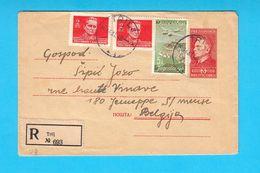 YUGOSLAVIA OLD REGISTERED LETTER - Travelled 1949. From Kosute - Trilj ( Sinj ) To Jemeppe-sur-Meuse (Seraing) Belgium - Covers & Documents