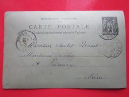 Cp écrite REGNER BATISTE à CHAMPLEMY (58) Le 31/05/1899 Oblitérée à CHAMPLEMY & PREMERY (58) Timbre Entier Type MOUCHON - Cartes Postales Types Et TSC (avant 1995)