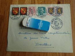 Enveloppe Avec Timbres AMIENS-GARE 1952 - Autres