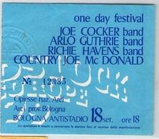 1980 ONE DAY CONCERT JOE COCKER ARLO GUTHRIE RICHIE HAVENS COUNTRY JOE TICKET STUB BIGLIETTO BOLOGNA - Biglietti Per Concerti