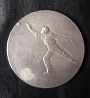 Médaille, Récompense De Concours De Boules, Bronze Argenté, Offert Par Mr. TAITTINGER, Député - Très bon état - Bocce