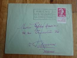 Enveloppe Avec Timbre  Publicitaire+ Flamme AMIENS 1956 VOIE INCONNUE A AMIENS - Voir Tampons - - Autres