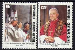 Centrafricaine  N° 683 / 84 XX  Visite De S. S. Le Pape Jean Paul II,  Les 2 Valeurs Sans Charnière TB - Centrafricaine (République)