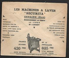 Cheque Cover France,Rouen,chèques Postaux.CCP.Postes Telegraphes Et Telephones,washing Machines,Laundry.Motor,Catalog - Advertising