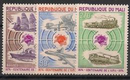 Mali - 1974 - N°Yv. 218 à 220 - UPU - Neuf Luxe ** / MNH / Postfrisch - UPU (Universal Postal Union)