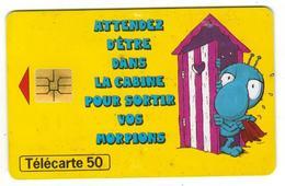Carte Téléphonique France Telecom Morpion 5F - BD