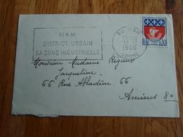 Petite Enveloppe Timbrée 1966 Flamme De Ham - Autres
