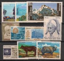 Nepal - 1973 - 10 Valeurs Entre N° Yv. 233 Et 266 - Neuf Luxe ** / MNH / Postfrisch - Nepal