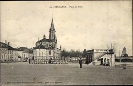 Cp Baccarat Meurthe Et Moselle, Place Du Patis - Francia