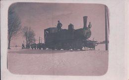 Chemin De Fer, Locomotive à Vapeur Dans La Neige, Canton De Nenchâtel ? (188) - Gares - Avec Trains