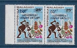 MADAGASCAR  -  N° 530 Paire * * - Surcharge Double -  Cote  : ? € - Madagascar (1960-...)
