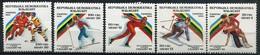 Madagaskar Mi# 117-21 Postfrisch MNH - Olympics Calgary 88 - Madagaskar (1960-...)