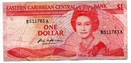 Eastern Caribbean  /  Pick 17a /  1 Dollar   / TB - East Carribeans