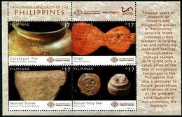 Philippines (2019)  - Block -   /  Joint Issue Indigenous Languages - Archaeology - Emissions Communes