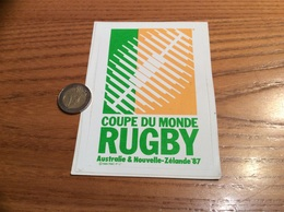 AUTOCOLLANT, Sticker «COUPE DU MONDE RUGBY - Australie & Nouvelle-Zélande 87 » (1996) - Pegatinas