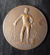 Médaille, Récompense De Concours D'Escrimes, Bronze - 1927  Salle, Degauchy ? - France