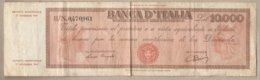 """Italia - Banconota Circolata """"Titolo Provvisorio"""" Da £ 10.000 P-87a.3 - 1947 #17 - [ 2] 1946-… : Repubblica"""